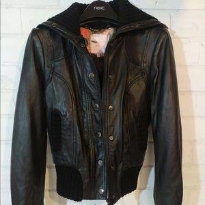 LAST CALL Ted Baker Leather Biker Bomber Jacket